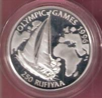 MALDIVES 250 RUFIYAA 1993 OLYMPIC GAMES 1996 SILVER PROOF SAILING - Maldives