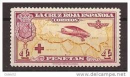ES348-L875TTOA.España.Spain   Espagne. 1ª  CRUZ ROJA ESPAÑOLA  AEREA.1926 (Ed 348*).levisima Charnela.EXCELENTE - Otros (Aire)