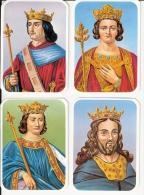 4 IMAGES ROIS PHILIPPE III  IV  V  VI Biographie Offerte Par Preval - Trade Cards