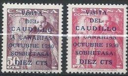 ESPAGNE - Visita Del Caudillo A Canarias - Neuf, 1er Tirage De 1950, Caudillo Mesure 16.5 Mm. - 1931-50 Neufs