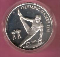 SAMOA 10 DOLLAR 1993  OLYMPIC GAMES 1996 SILVER PROOF HORSE - Samoa