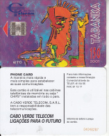 CAPE VERDE - Tabanka 2001(red BN), Used - Cap Vert