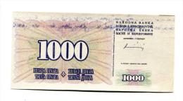 Bosnie Herzegovine / Bosnia Hercegovina 1000 Dinara 1994 UNC ERROR / TRIAL Note?? - Bosnië En Herzegovina