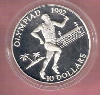 SOLOMON ISLANDS 10 DOLLARS 1991 OLYMPIC GAMES 1992 SILVER PROOF RUNNING - Salomonen