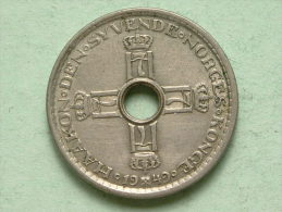 1949 - 1 KRONE / KM 385 (uncleaned / For Grade, Please See Photo ) ! - Norvège