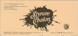 Buvard STYRUM CHALON ( Bagé-le-Chatel ) - Carte Assorbenti