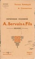 Buvard Imprimerie Moderne A.SERVAIS & Fils NAMUR . - Blotters