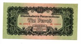 "Hongrie Hungary Ungarn 10 Pengo 1944 """" RED ARMY """" AUNC / UNC - Hongrie"