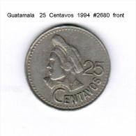 GUATAMALA   25  CENTAVOS  1994  (KM # 2785) - Guatemala