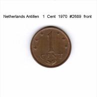 NETHERLANDS ANTILLEN   1  CENT  1970  (KM # 8) - Netherland Antilles