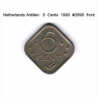 NETHERLANDS ANTILLEN   5  CENTS  1980  (KM # 13) - Netherland Antilles