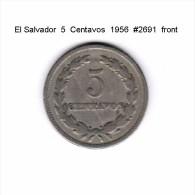 EL SALVADOR   5  CENTAVOS  1956  (KM # 134) - El Salvador