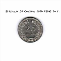 EL SALVADOR   25  CENTAVOS  1970  (KM # 139) - Salvador