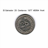 EL SALVADOR   25  CENTAVOS  1977  (KM # 139) - El Salvador
