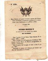 1868  DECRETO COMIZIO AGRARIO DI BRINDISI - Décrets & Lois