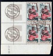 OCEANIE  - PREMIER JOUR  NAFEA FAA  Par GAUGUIN - 1953 BLOC De 4 Avec COINS DATES - NEUF Avec OBLITERATION  - Y.T. N° 30 - Tahiti