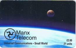 Isle Of Man, MAN 121, 2 £, Universal Communications, 2 Scans. - Isla De Man