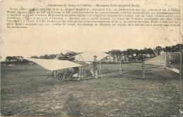 MONOPLAN TRAIN APPAREIL ECOLE AERODROME DU CAMP DE CHALONS - ....-1914: Précurseurs