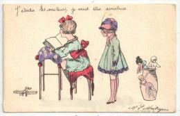 L. MAITREJEAN - L'Aviateur - Série N° 24 - J'étudie Les Moteurs, Je Veux être Aviatrice - Illustrateurs & Photographes