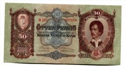 Hongrie Hungary Ungarn 50 Pengo 1932 UNC # 3 - Hungary