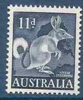 1959-62 AUSTRALIE 254A** Lapin Bandicoot - Mint Stamps