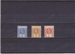 SAINTE LUCIE 1921 GEORGE V Yvert 82-83, 86 NEUF* - Ste Lucie (...-1978)