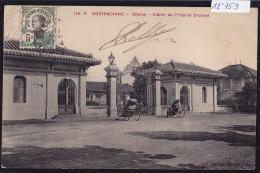 Cochinchine : Cholon : Entrée De L´Hôpital Drouhet Avec 2 Pousse-pousses - Timbre Indochine Française 1911 (12´759) - Viêt-Nam