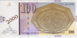 Macedonia,Makedonija,100 Denari  01.01.2000,commemorative Issue,Initial Series:AA 000075,P-20,UNC,see Scan - Macedonia