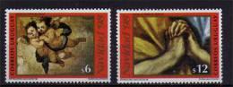 Anges De Murillo & Mains En Prieres Du Greco.  2 T-p Neufs ** Noel 1998 D´Uruguay - Uruguay