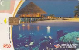MALDIVES ISL. - Underwater/Fish & Corals, CN : 2MLDGIW, Used - Maldiven