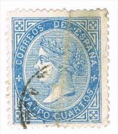 Ed. 88 Isabel II 4 Cuartos Usado - 1850-68 Royaume: Isabelle II
