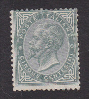 Italy, Scott #26, Mint No Gum, King Victor Emmanuel II, Issued 1865 - Mint/hinged
