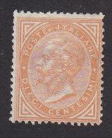 Italy, Scott #27a, Mint No Gum, King Victor Emmanuel II, Issued 1865 - 1861-78 Victor Emmanuel II