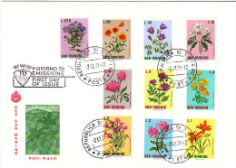 * FDC 2 San Marino  Complete Serie Bloemen Flowers Fleurs1971 - Storia Postale