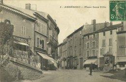 AMBERIEU EN BUGEY AIN 5 PLACE SANS VILLE PAS D'EDITEUR ECRITE CIRCULEE EN 1912 - Autres Communes