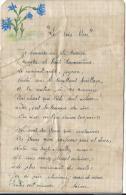 Poéme D'Ecole/sur Papier De Cahier D'écolier/Avec Illustration/Le Bois Bleur/ Vers 1925    CH31 - Diplomi E Pagelle