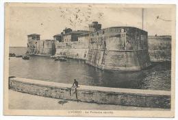Cpa Bon Etat , Livorno , Carte Rare ,  La Fortezza Vecchia , Timbre Courrier Voir Au Verso - Livorno
