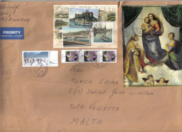 GERMANY - BIG ENVELOP WITH STAMPS SEND TO MALTA - Germany