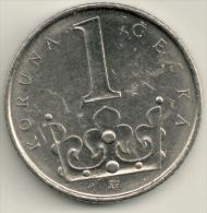 Czech Republic  1 Koruna 2001 KM#7 - Repubblica Ceca