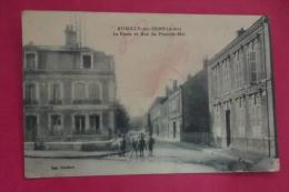 Cp Romilly Sur Seine  La Poste Et Rue Du 1er Mai Animé - Romilly-sur-Seine