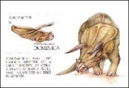 Dominica 1992 Souvenir Sheet-Dinosaurs Prehistoric #1476 Torosaurus - Dominica (1978-...)