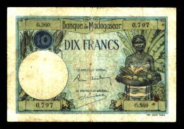 10 Francs MADAGASCAR  Type 1926 (G.940) - Madagaskar