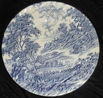 Assiette Ridgway Modele Meadowsweet  Bleue Staffordshire- England (Grande Bretagne) Très Bon état Diametre 25 Cm - Ridgway