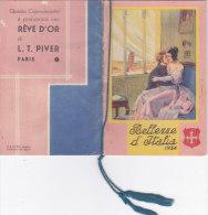 """CALENDARIETTO PROFUMATO CON \""""REVE D\'OR\"""" L.T.PIVER PARIS \""""BELLEZZE D\'ITALIA\""""  1934 FIRMA NORSAC    -2 -0882-17552-5 - Calendriers"""