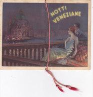 """CALENDARIETTO DEL BARBIERE""""NOTTI VENEZIANE""""AMORI AL CHIARO DI LUNA   1938     -2 -0882-17554-555 - Calendriers"""