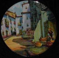 2 Assiettes:   Calle De Ibiza, Rue D´Ibiza, Espagne Spain Street, N° 8, Diametre 26, Et Une Assiette Talavera XXXIV - Céramiques