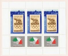 1985 Exposition Philatélique ITALIA '85 Feuillet De 3 Timbres   Neufs Sans Charnière ** MNH - Hungary