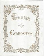 Couverture De Cahier D´Ecole / Enluminé Doré  Et Gaufré/ Vers 1900-1910   CH38 - Diplomi E Pagelle