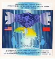 1987  Sommet USA-URSS Réduction Des Armes Nucéaires  Bloc Feuillet    Neufs Sans Charnière ** MNH   Space - Ungarn