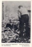 Kaartje Chromo (6x9cm) Houthakker Bûcheron Belgische Ardennen Ardennes Belges Uitgave: Van Melle Gent - Vieux Papiers